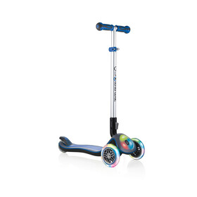 Globber Elite Prime Roller mit Batterielosen LED Blink-Rollen Kinder navy blue